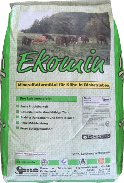 Ekomin® Sackbild - Biomineralfutter für Rinder   Sano