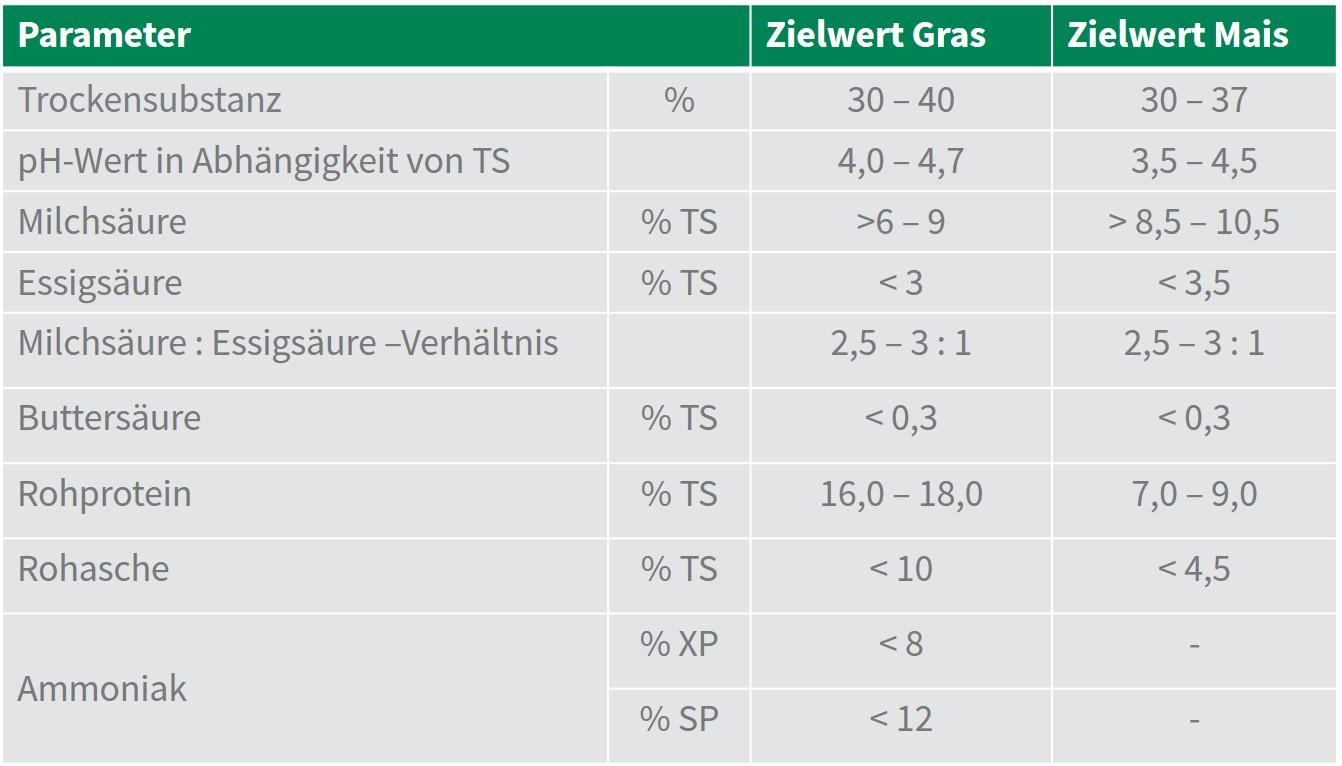 Sano24_Blog_Siliererfolg_Tabelle_Zielwerte