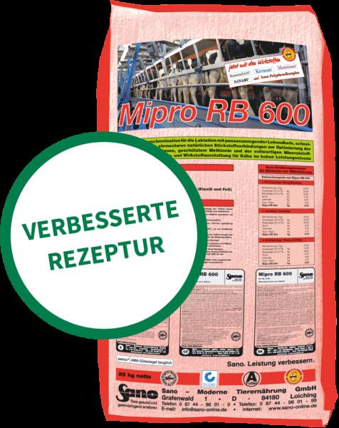Mipro RB 600® Sackbild - Mineralfutter-Komplettlösung für Kühe bei Voll-TMR | Sano