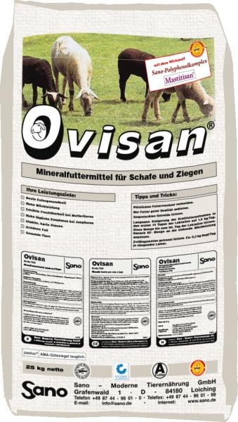 Ovisan Sackbild - Mineralfutter für Schafe ohne Kupfer | Sano