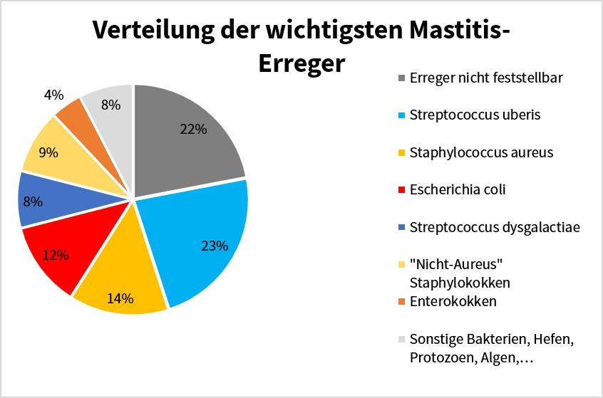 Sano24_Blog_Beitrag_Mastitis_Kreisdiagramm_Mastitis_Erreger_Verteilung_Boerhinger_Ingelheim_2011