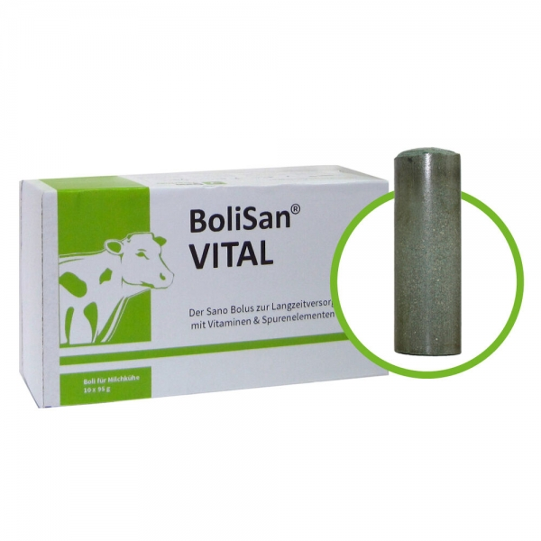 BoliSan® VITAL Produktbild - Kuh Bolus zur Langzeitversorgung mit Vitaminen und Spurenelementen | Sano Veterinär