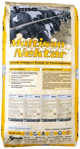 Multisan Nektar - Ergänzungsfutter für Rinder mit Zucker   Sano